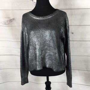 ❤️FOREVER 21 WAXED OPEN BACK SWEATER ~ S